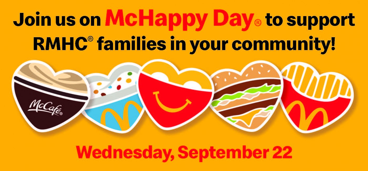 Join us on Wednesday, September 22 for McHappy Day, and support RMHC Manitoba families!
