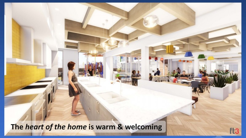 The heart of the home is warm and welcome (photo of kitchen and dining area)
