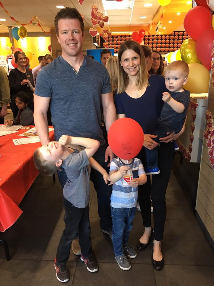 The Spruyt family joining in on McHappy Day festivities