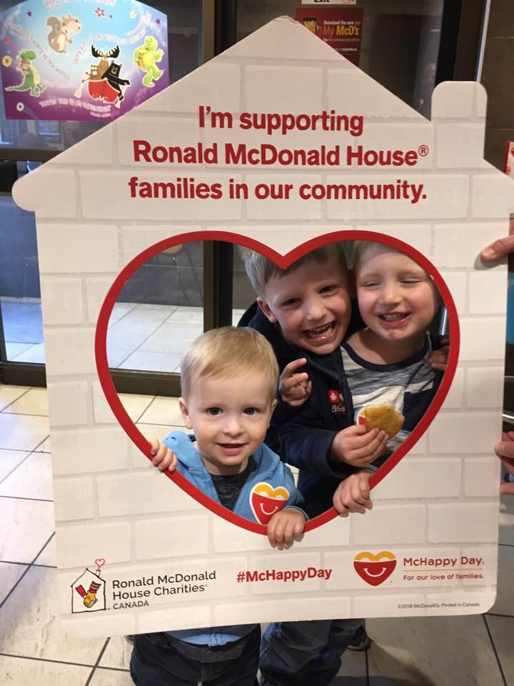 Henry, Jack and Luke on McHappy Day